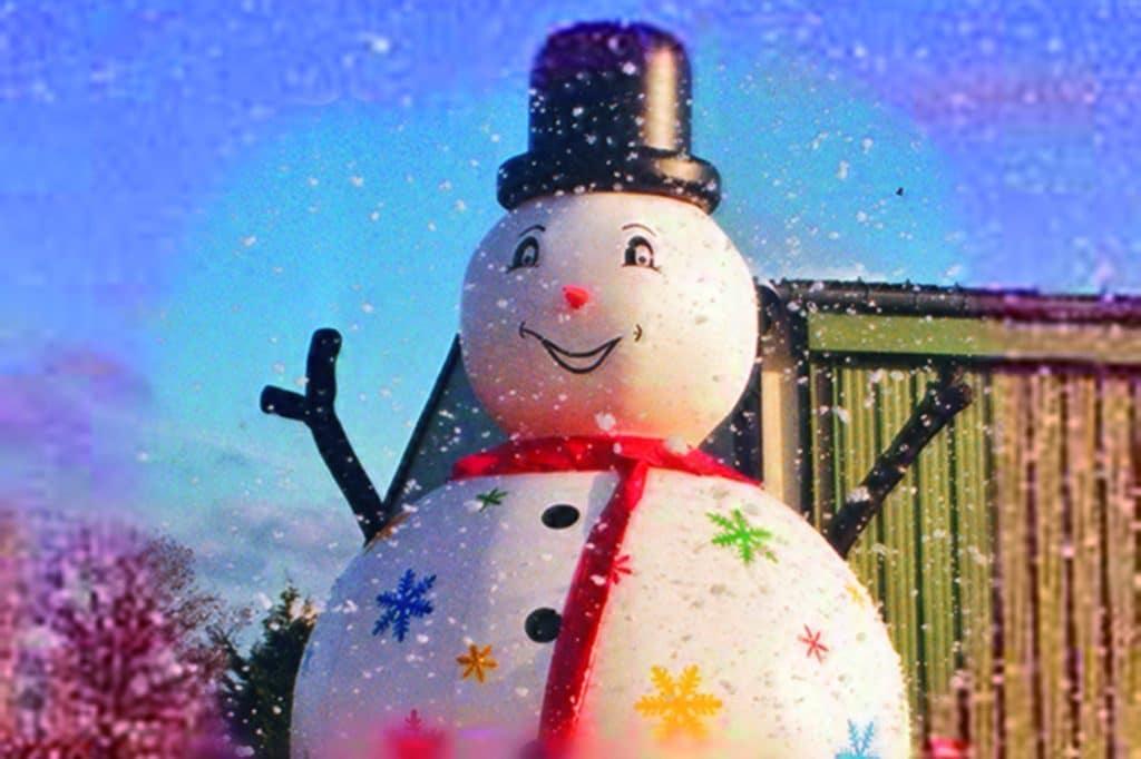 Parc loisirs bonhomme de neige Noël